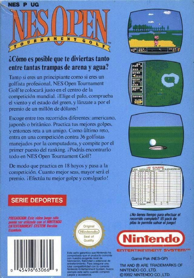 NESHQ Games Database - NES Open Tournament Golf