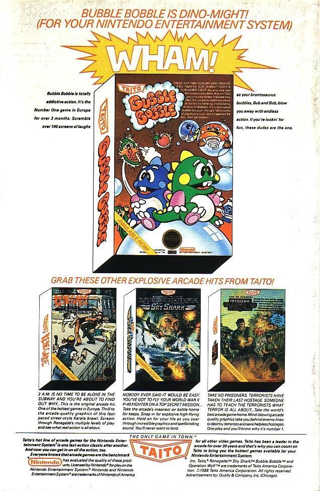 Bubble Bobble Magazine Ad